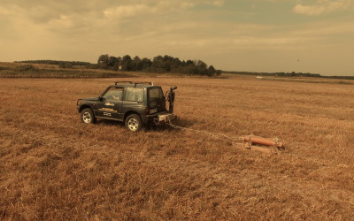 Skanowanie gleby i pobieranie prób glebowych